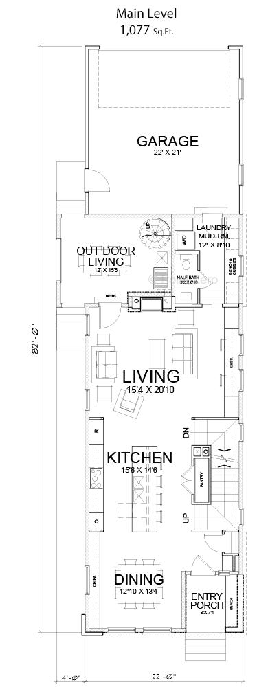 The baldwin floor plan point zero high performance homes for Baldwin floor plan