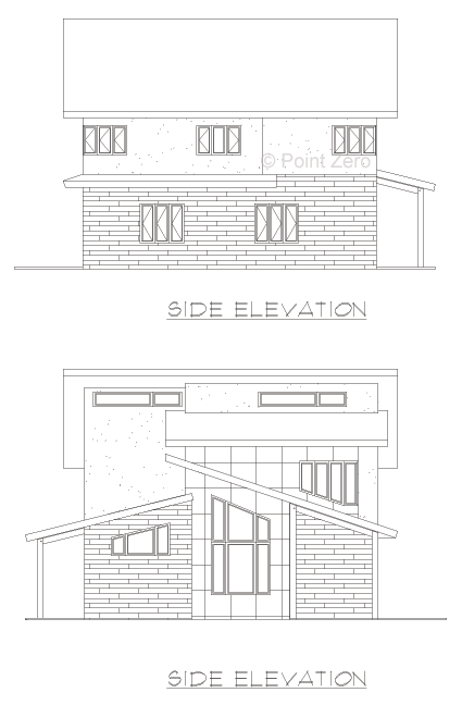 Elevations of The Manchester Point Zero Design