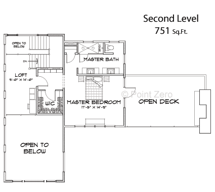 Second story master suite for the Pacific Landing Floor Plan