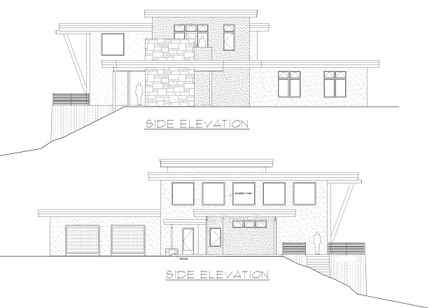 Pacific Landing Side elevations