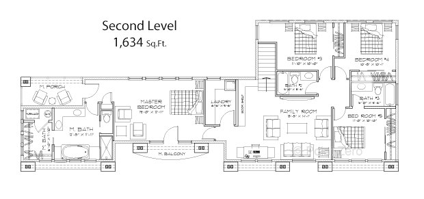 Sterling Second Level Floor Plan