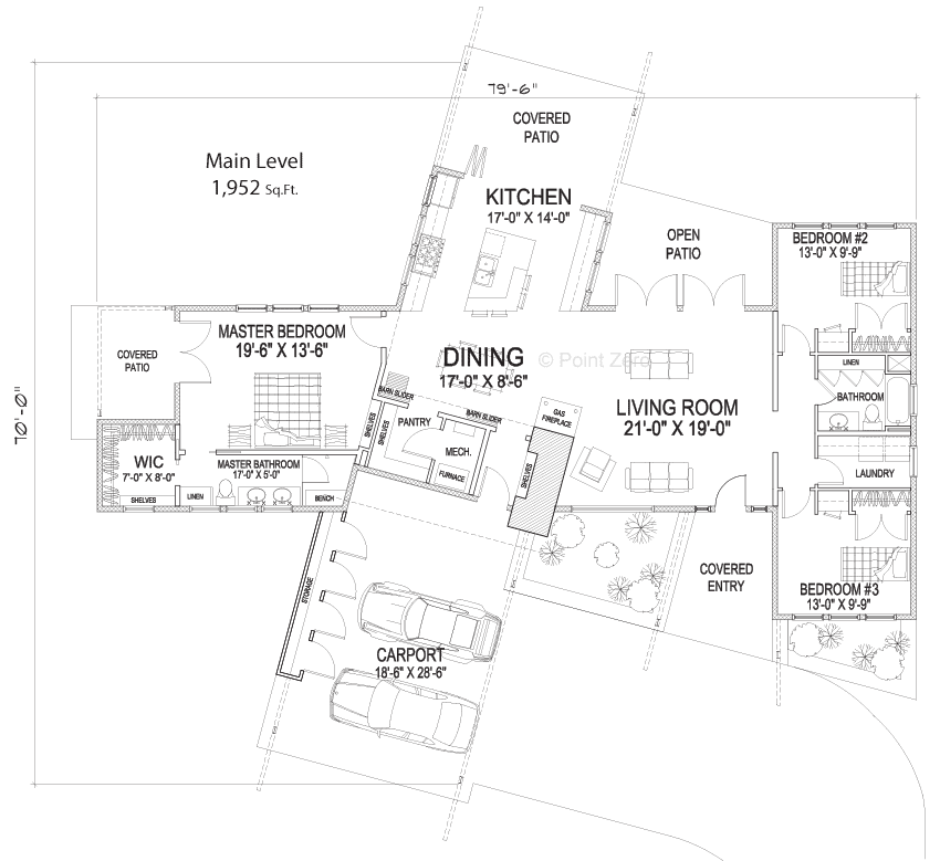 Ventura Single Level Floor Plan