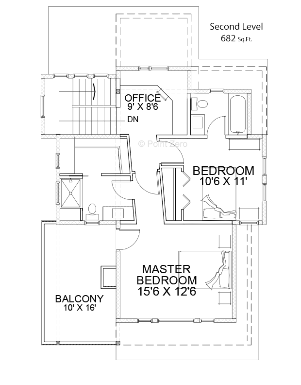 West Port Second Level Floor Plan