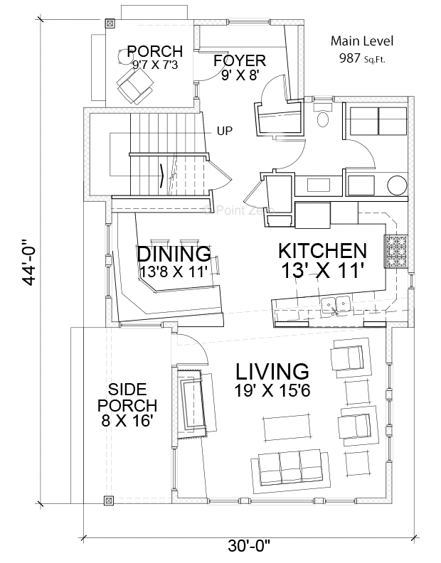 West Port Main Level Floor Plan